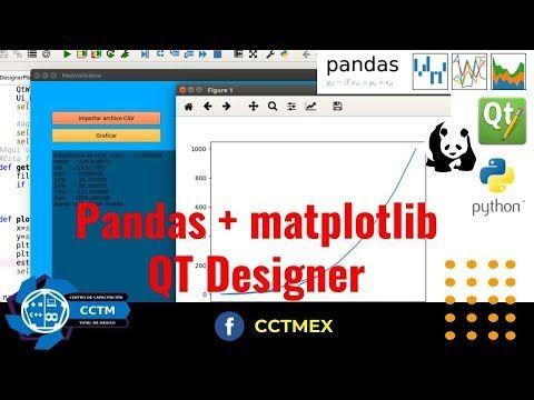 Pandas + QT Designer| Python | PyQT5 | Pandas | Matplotlib
