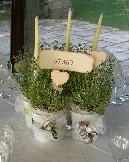 Centrotavola Matrimonio Stile Rustico : Più di fantastiche idee su centrotavola erbe