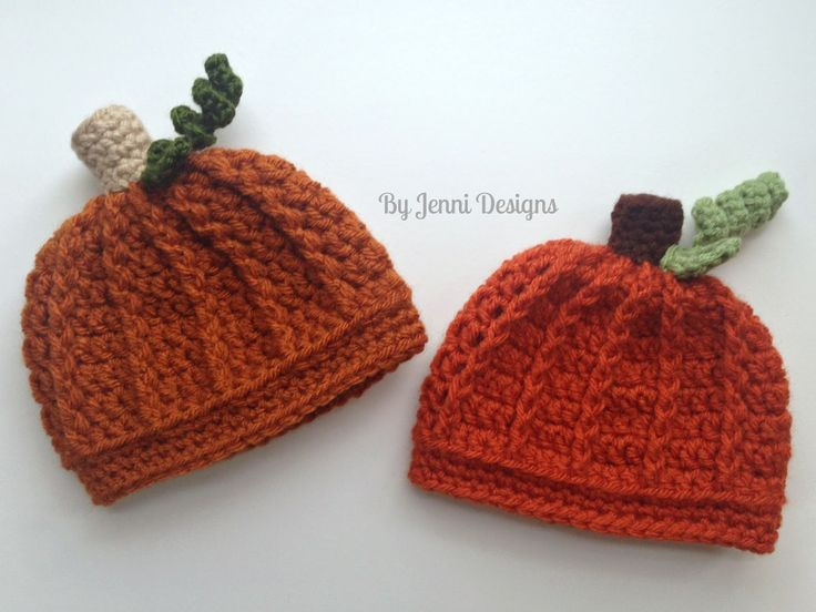 While creating the Ribbed Beanie or Newsboy Hat  I realized the same hat could easily be used to make a cute little pumpkin hat and since ...
