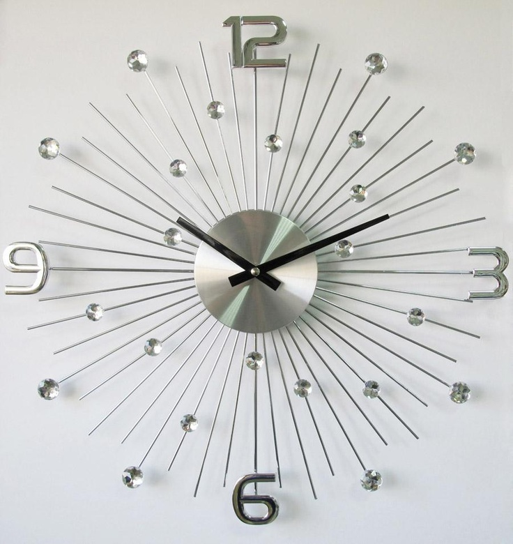 Silver Starburst Clock With Numbers Products I Love