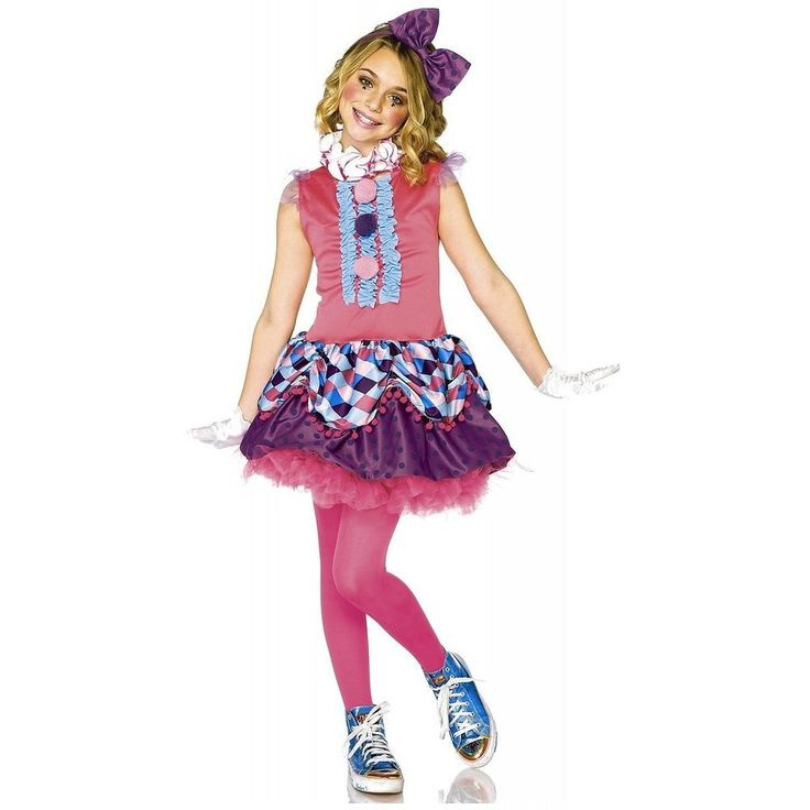 toddler girls clown halloween costume 3t 4t cutie circus dress - 4t Halloween Costumes Girls