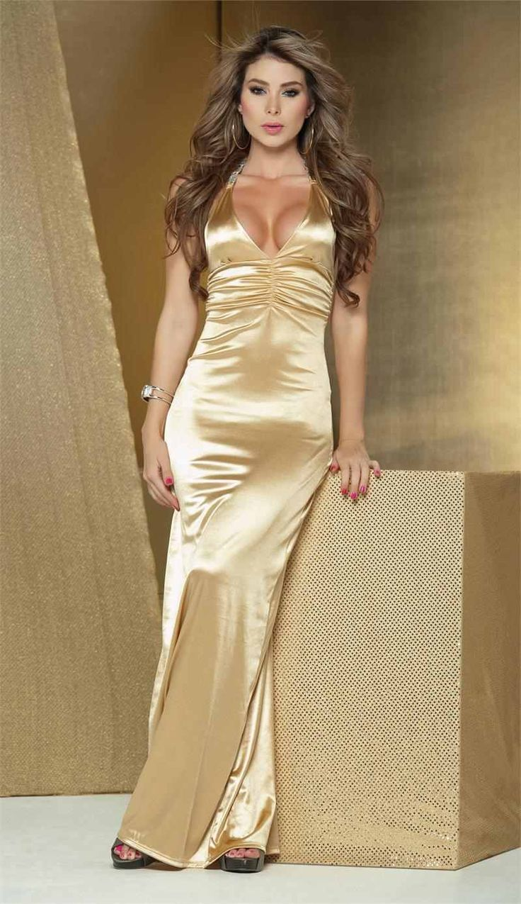 Maxi Dress Quality Party Directly From China Long Suppliers Dower Me Women Halter Backless V Neck Sleeveless Y Golden