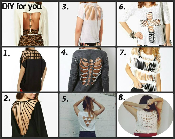 different ways to cut your tee shirt clothess pinterest - T Shirt Cutting Designs Ideas