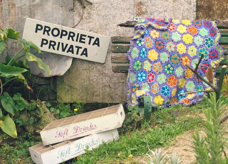 Crochet blanket flowers. Uncinetto Coperta Fiorata