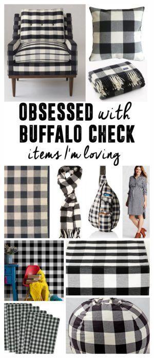 A Pattern I'm Loving- Buffalo Check, Buffalo Plaid, Black and White Plaid, Black and White Check, Buffalo Print Items www.BrightGreenDoor.com