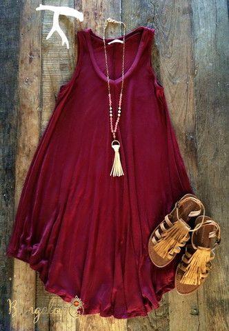 Shaw Dress - Burgundy – Bungalow 123