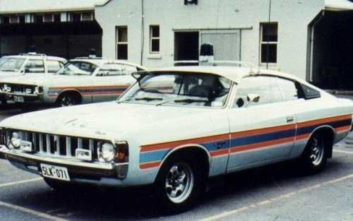 Charger VK 770 Police Edition.     When police cars had style!