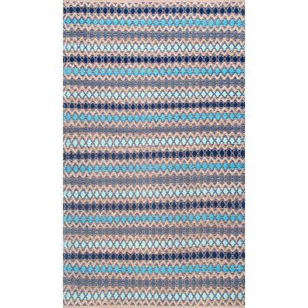 nuLOOM Ellamae Diamond Chevron Area Rug, Blue