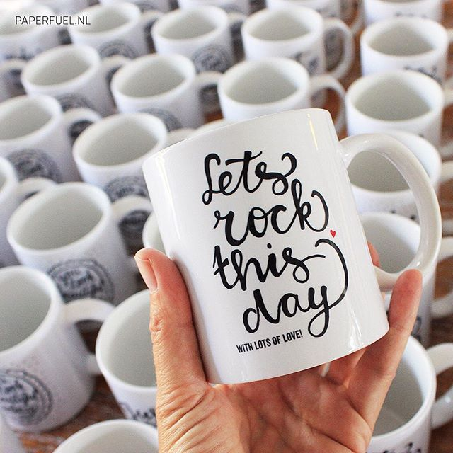 Let's rock this day! #lettering #handlettering #mug #paperfuel