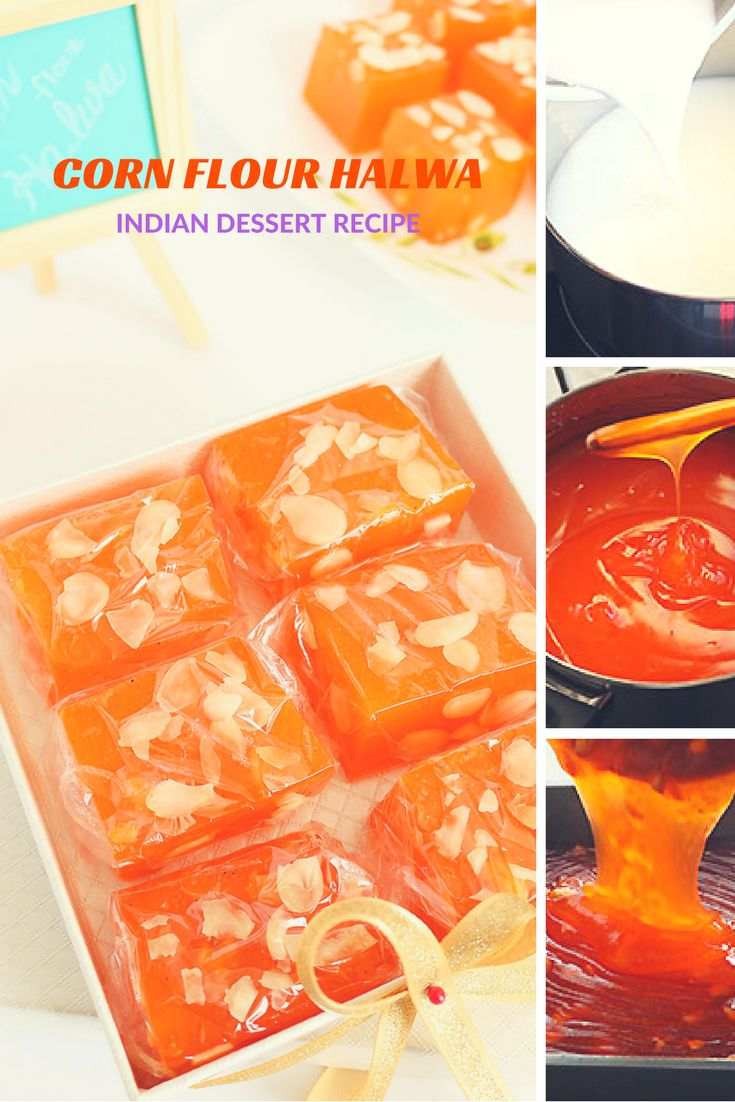 A super silky, soft and melt in your mouth Indian dessert made with Corn Flour / Starch. Perfect for any special occasion like Valentine's Day.