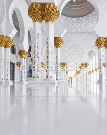 Abu dhabi, Emiratos Árabes Unidos - 4 de junio: Jeque zayed gran mezquita interior interior en 04 de junio de 2012 en abu Dabi, Emiratos Árabes Unidos — Imagen de stock #12440488