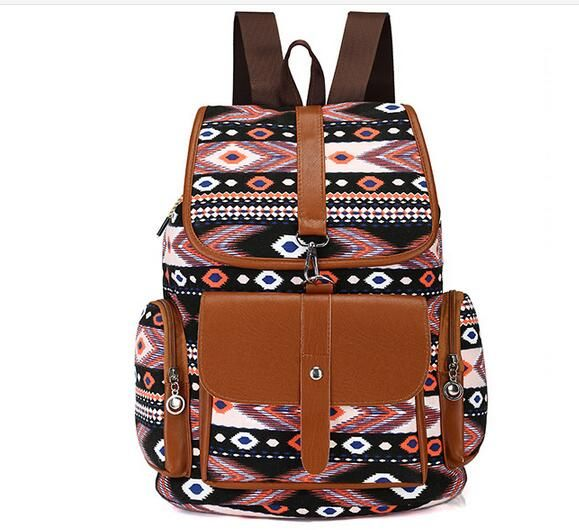 Find More Backpacks Information about 2017 famous brand women Bohemia style canvas backpack national printing flowers school bags for girls travel bags MN65,High Quality Backpacks from MinongTrading Co. Store on Aliexpress.com