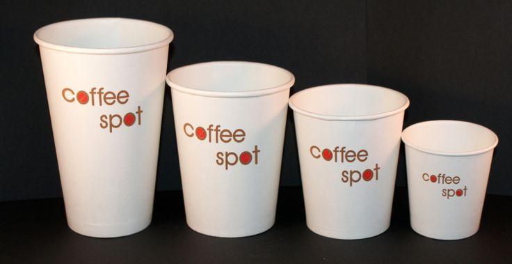 papierowe kubki do kawy z nadrukiem / tampo druk - 2 kolory / karolla.com