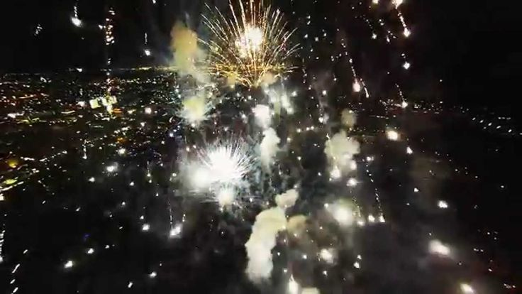 Just To See What Happens: GoPro Attached to A Drone and Flown Through Fireworks