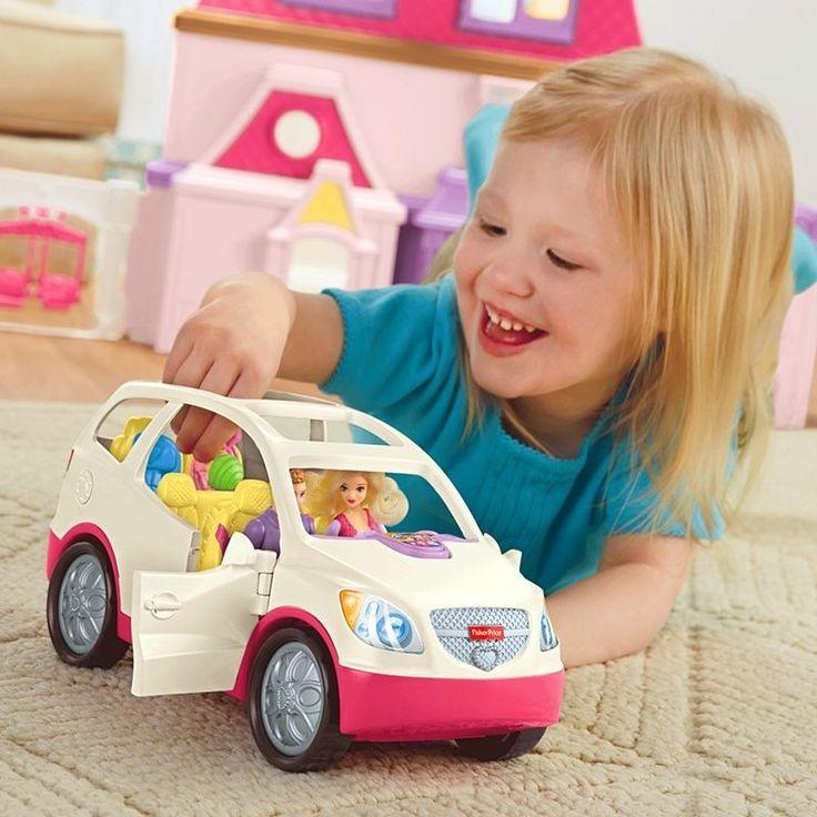 Loving Family SUV Music Radio Fisher Price Van Car Dollhouse Minivan NEW  Hitch #FisherPrice