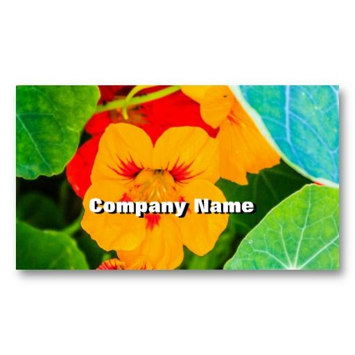 Yellow Flowers in a Row Business Cards