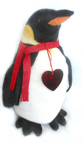 "Romantic Calvin Penguin Plush ( 18"" tall)"
