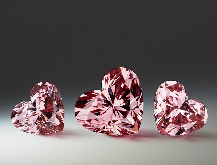The beautiful, rare and prestigious Argyle Pink Diamonds ~ The heart-shaped fancy intense pink diamond.