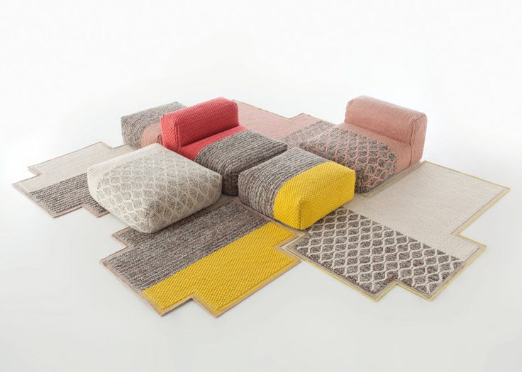 Lana Mangas rugs and seating by Patricia Urquiola for Gan