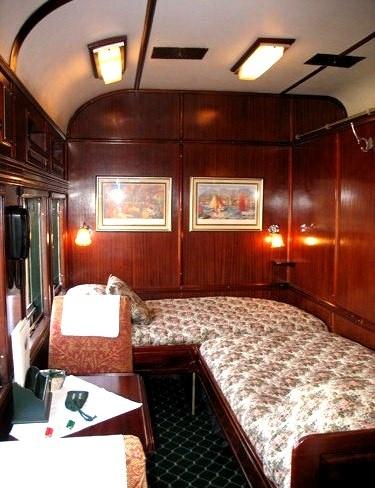 Sleeper train! I imagine I would be in a movie like North By Northwest....