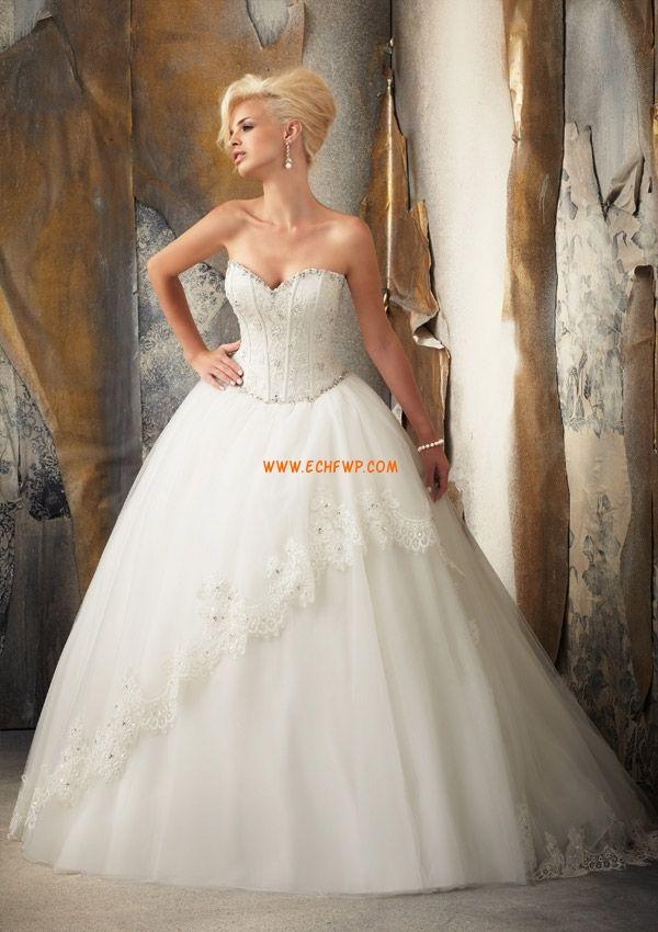 Kápolna uszály Tüll  Ujjatlan Évjárat Menyasszonyi ruhák