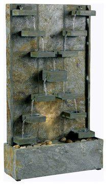 "$340 - Kenroy 50375SL Watercross Floor Fountain 33"" high"