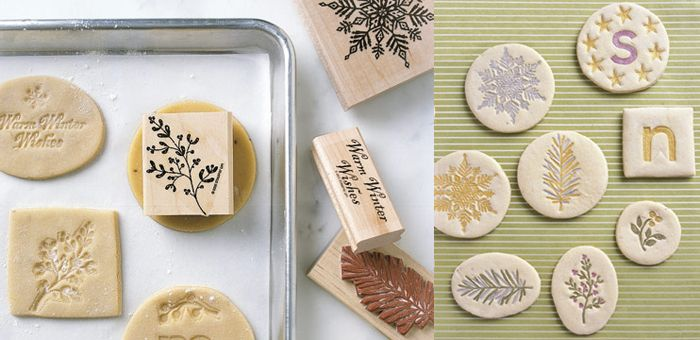 I thought these were salt ornaments, but they are cookies.  Either way, cute idea!