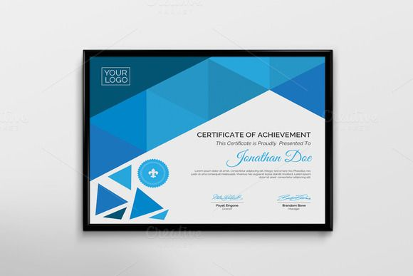 Abstract Certificate by Cristal Pioneer on @creativemarket