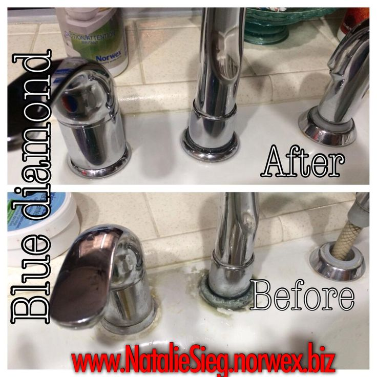 Norwex blue diamond cleaner did wonders on my kitchen faucet. It's like new, talk about savings!  	 www.NatalieSieg.norwex.biz