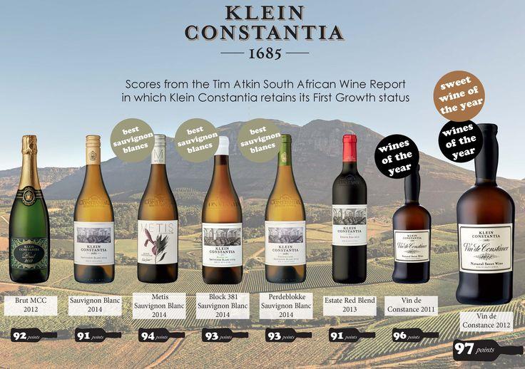 Fab Tim Atkin's scores for Klein Constantia in 2015! @Klein Constantia.