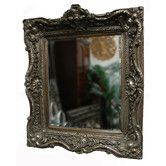 "Found it at Wayfair - Lancelot Traditional Framed Mirror - Overall Dimensions: 35"" H x 31"" W Mirror dimensions: 24"" H x 20"" W Frame width: 5"" - $219 -OOS"