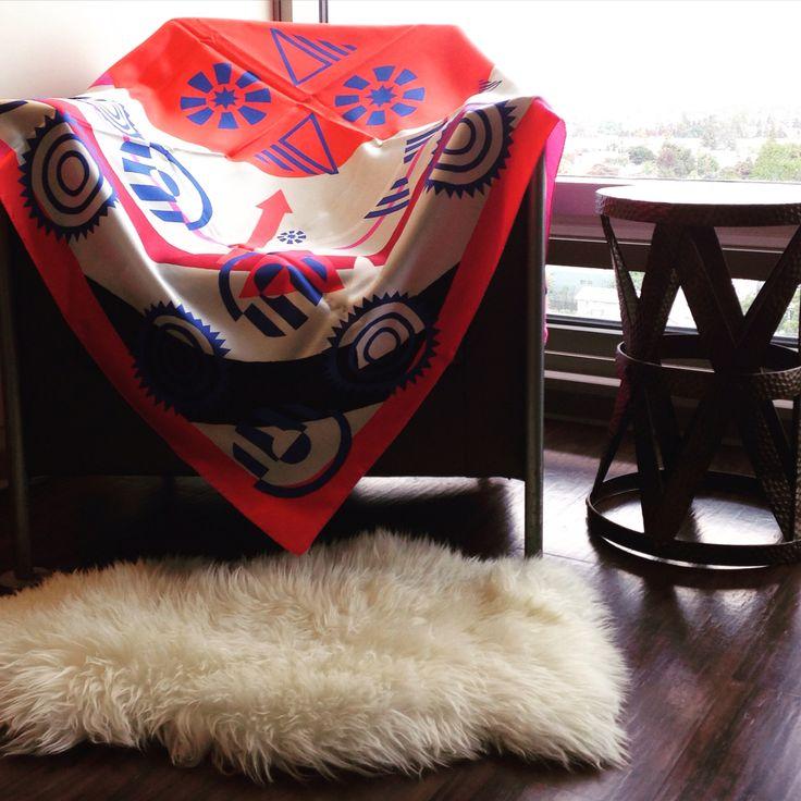 Bye bye Airbnb pad  #LA #hollywood #sphere #silkscarf #AW15 #thesilkvault #silk #silkjunkie #ilovesilk #thesilkvaultontour #scarfdesigner #silkscarfstyling @losangeles_city