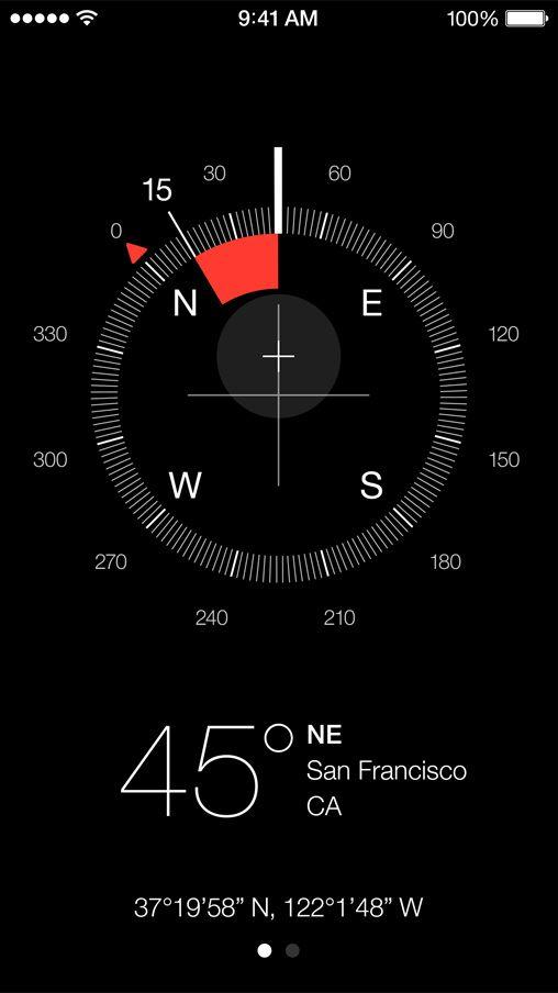 iOS7 compass