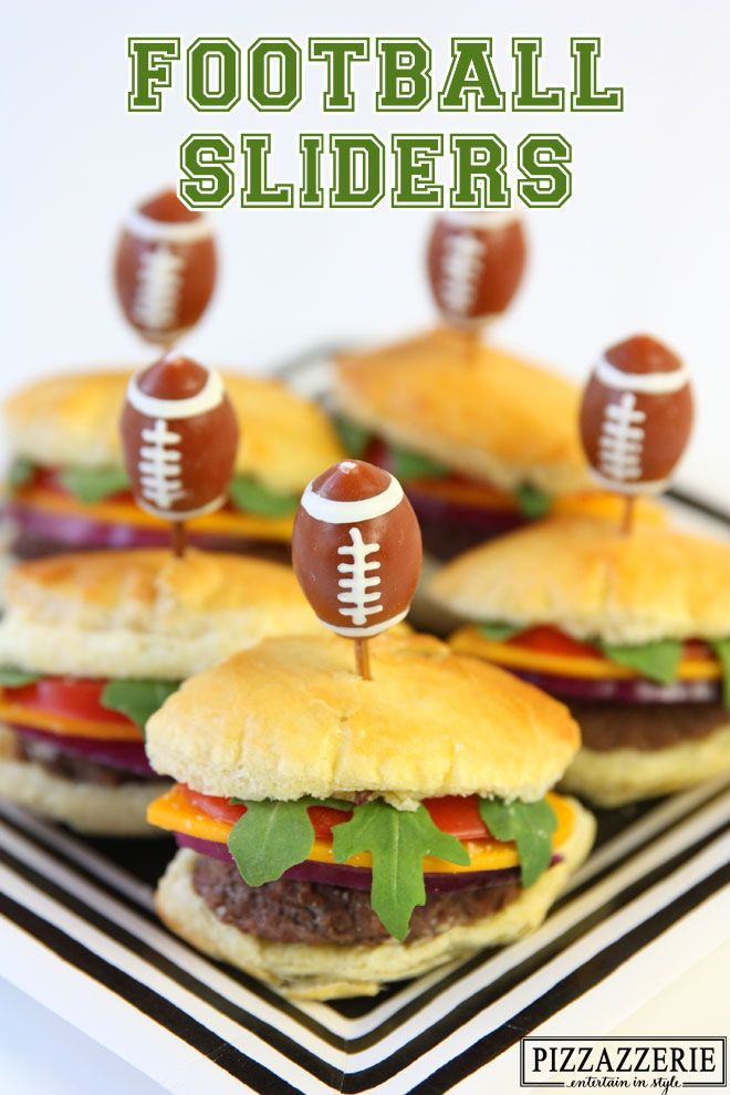 Football Sliders for the Tailgating! #footballseason
