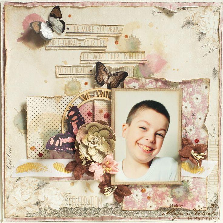 CraftHobby Oliwiaen: Celebrate Life. Layout 30x30 cm
