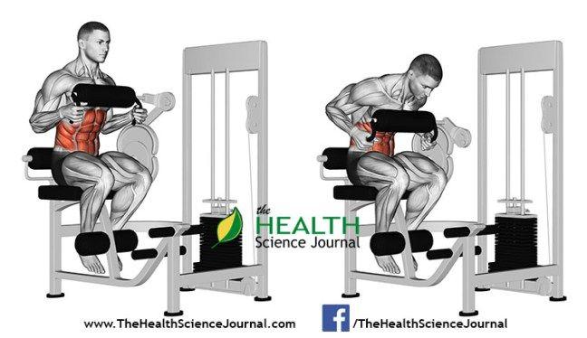 © Sasham | Dreamstime.com - Exercising for bodybuilding. Abdominal Crunch in AB machine
