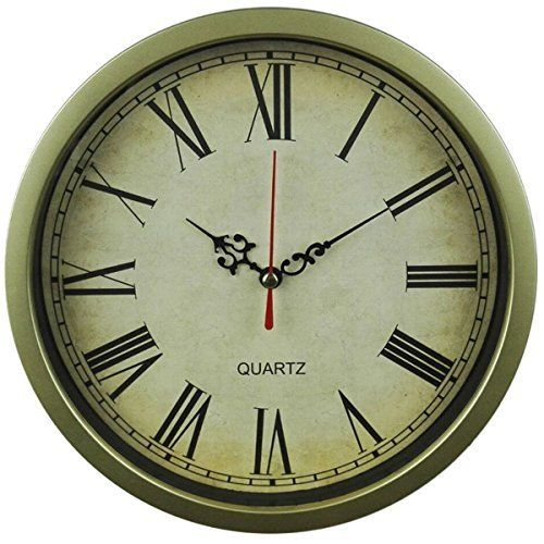 Foxtop 8 Inch Vintage Retro Small Wall Clock Time Decorative Small Wall Clock Rustic Clock Wall Clock