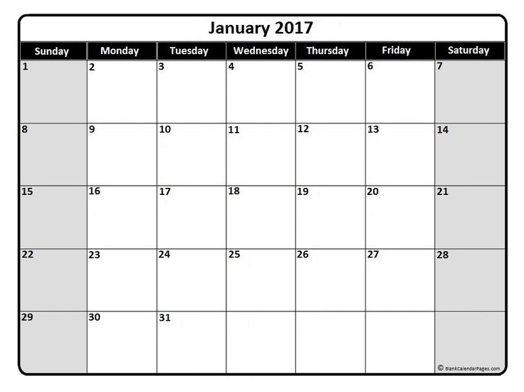 Beste Ideen Over January  Calendar Template Op