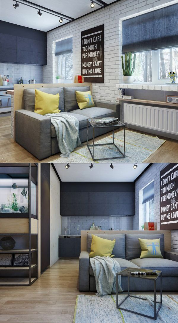 homedesigning:  (via Apartment Designs For A Small Family, Young Couple And A Bachelor)