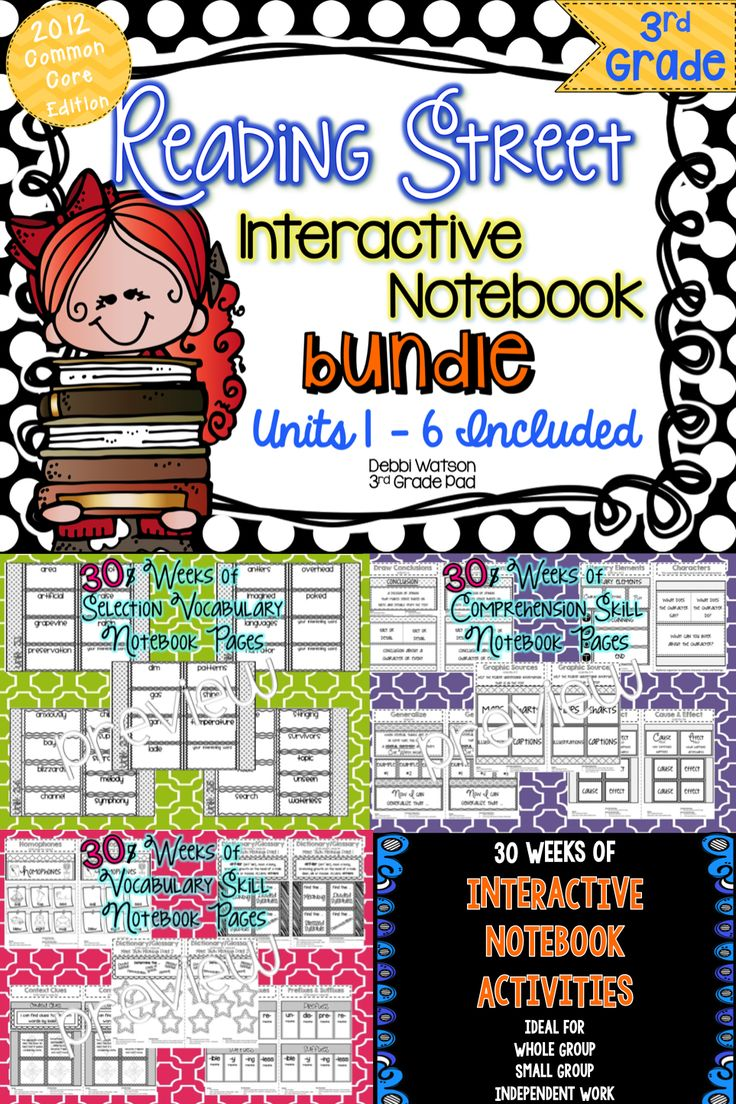 Reading Street 3rd Grade Interactive Notebook BUNDLE. Units 1-6: Includes Selection Vocabulary, Comprehension Strategy, Vocabulary Skill TpT$