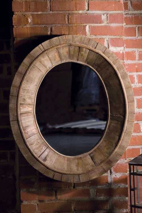 WC MIRRO PC Classic Oval Mirror With Pieced Wood Frame Dimesions:(27.5