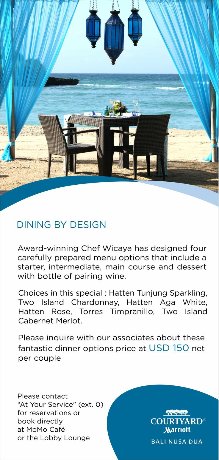 Personalized dinner by the beach