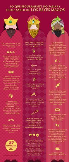 Lo que seguramente no sabías y debes saber de los Reyes Magos #Infographic #Christmas