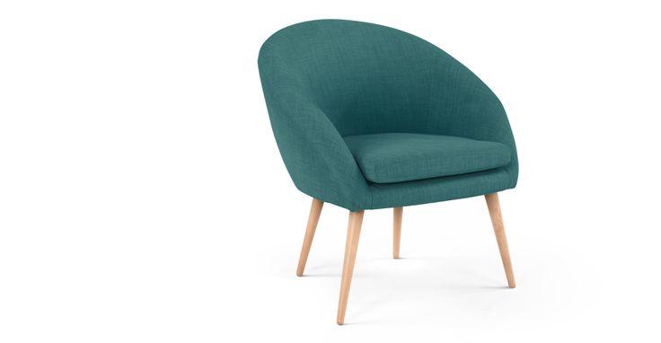 Picerno, fauteuil, bleu canard sombre | made.com