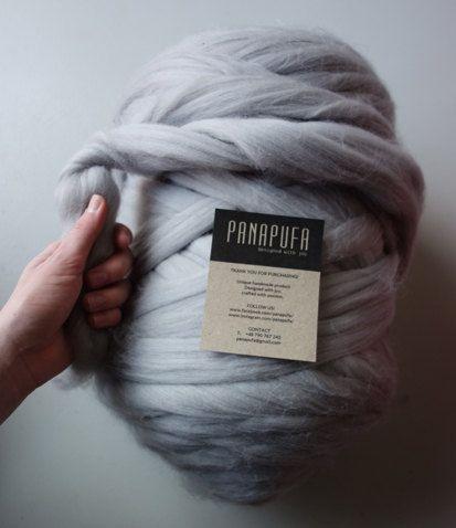 CHUNKY MERINO YARN giant yarn super chunky yarnhuge by PANAPUFA