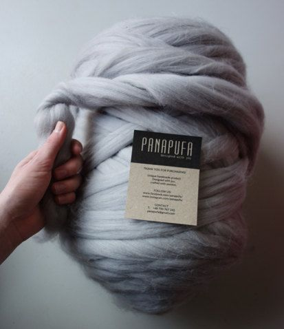 CHUNKY MERINO YARN, giant yarn, super chunky yarn 25 microns Made in EU.  This…