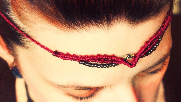 simple tiara - micro macrame tutorial