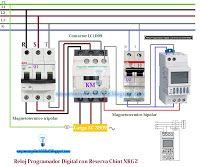 Esquemas eléctricos: Esquema eléctrico reloj programador digital con re...