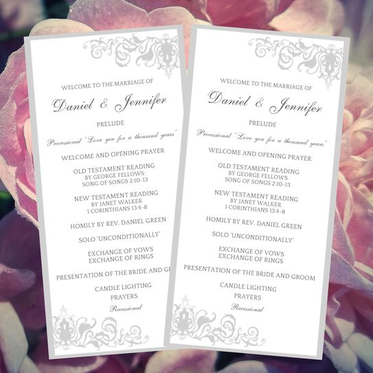 37 best DIY Wedding Programs images on Pinterest Diy wedding - wedding template