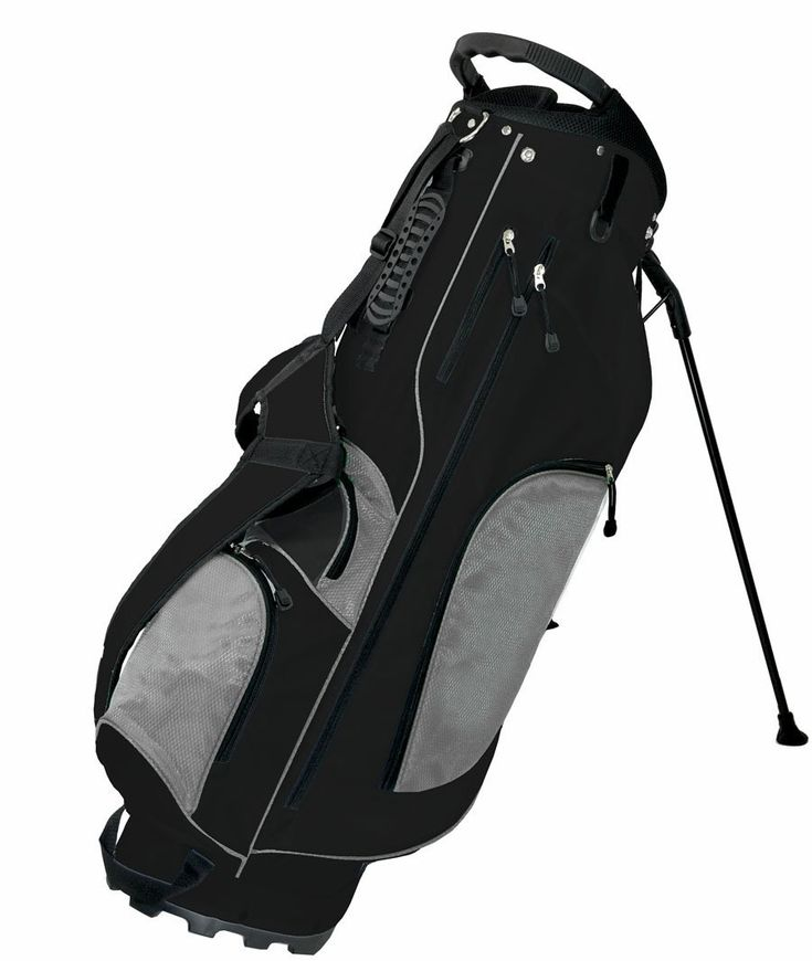 Using a top and bottom grab handle for easy lifting these mens SRM+ golf stand bags by Orlimar also come with an 8 way graphite-safe top and 7 spacious pockets